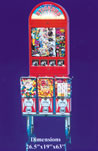 5 rack w/ sticker bulk vending machines